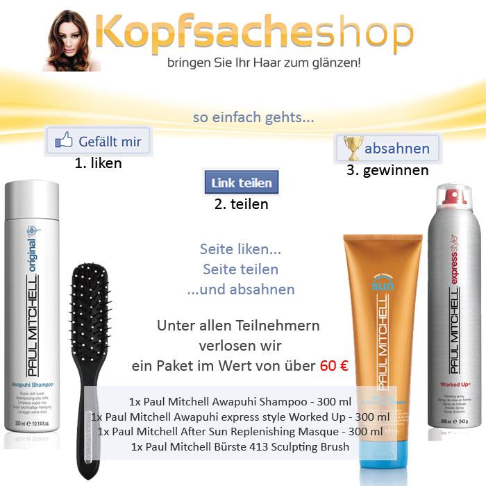 Aktion Facebook Likes kopfsacheshop.de